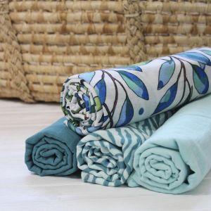Tommy Lise Bavlněná mušelínová plena Blue Tiger 120x120cm