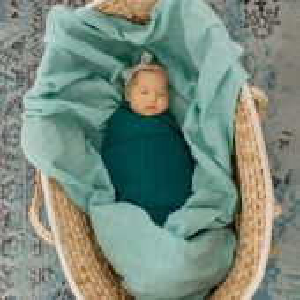 Tommy Lise Bavlněná mušelínová plena Dreamy Green 120x120cm