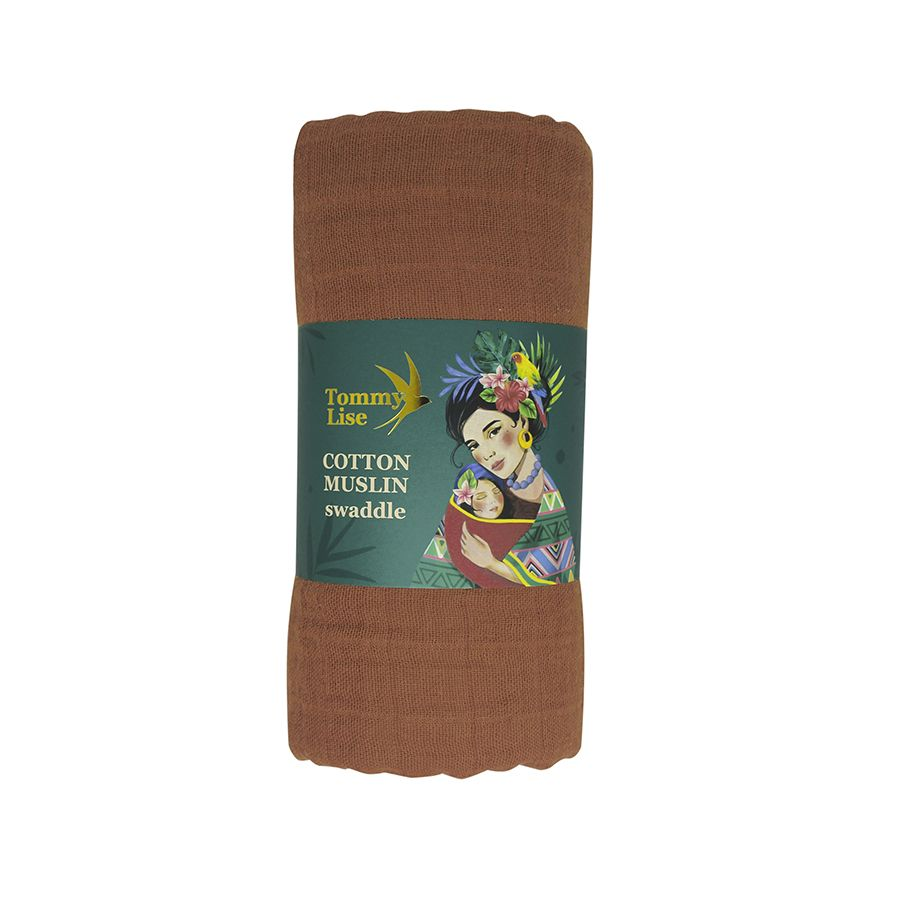 Tommy Lise Bavlněná mušelínová plena Glazed Ginger 120x120cm