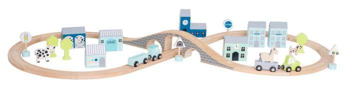 Jabadabado Dřevěná dráha pro auta modrá