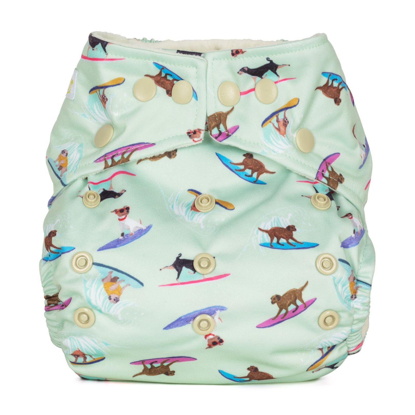 BabaBoo plenkové kalhotky AIO kapsové, SURFING DOGS
