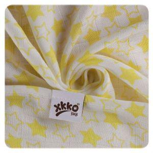 Bambusová osuška XKKO BMB 90x100 - Little Star Lemon Kikko