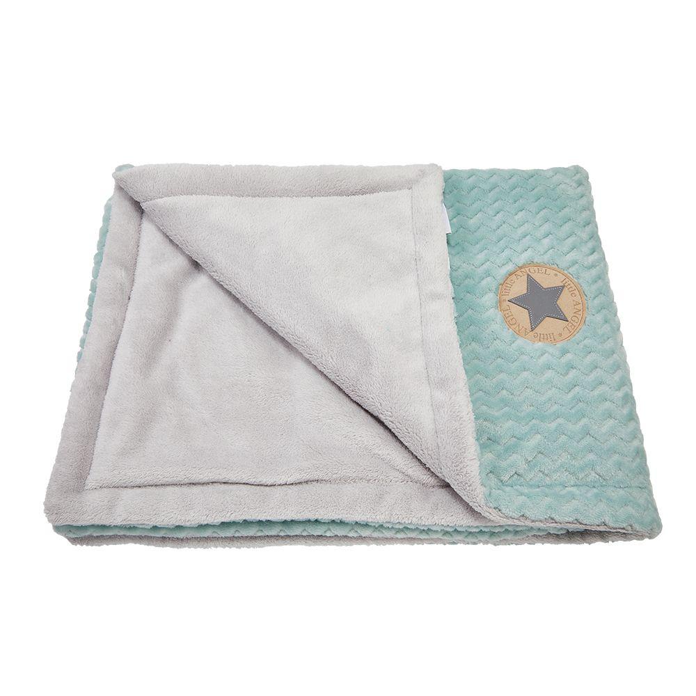 Little Angel deka dvojitá MAZLÍK Outlast® - lišejník/sv.šedá