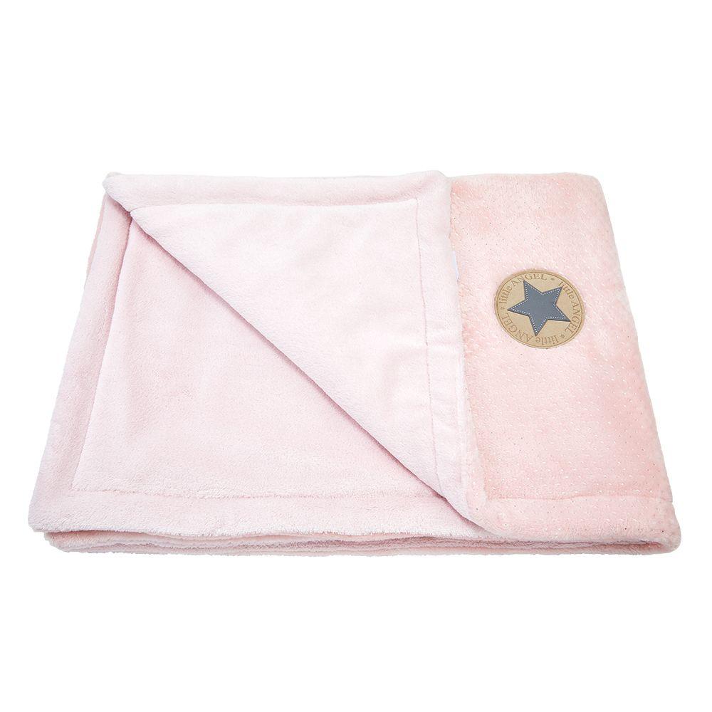 Little Angel deka dvojitá MAZLÍK Outlast® - pudrová stříbrný puntík/sv.pudrová