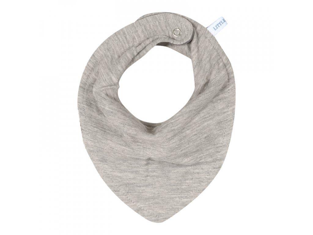 Little Dutch multifunkční šátek/bryndák Pure grey