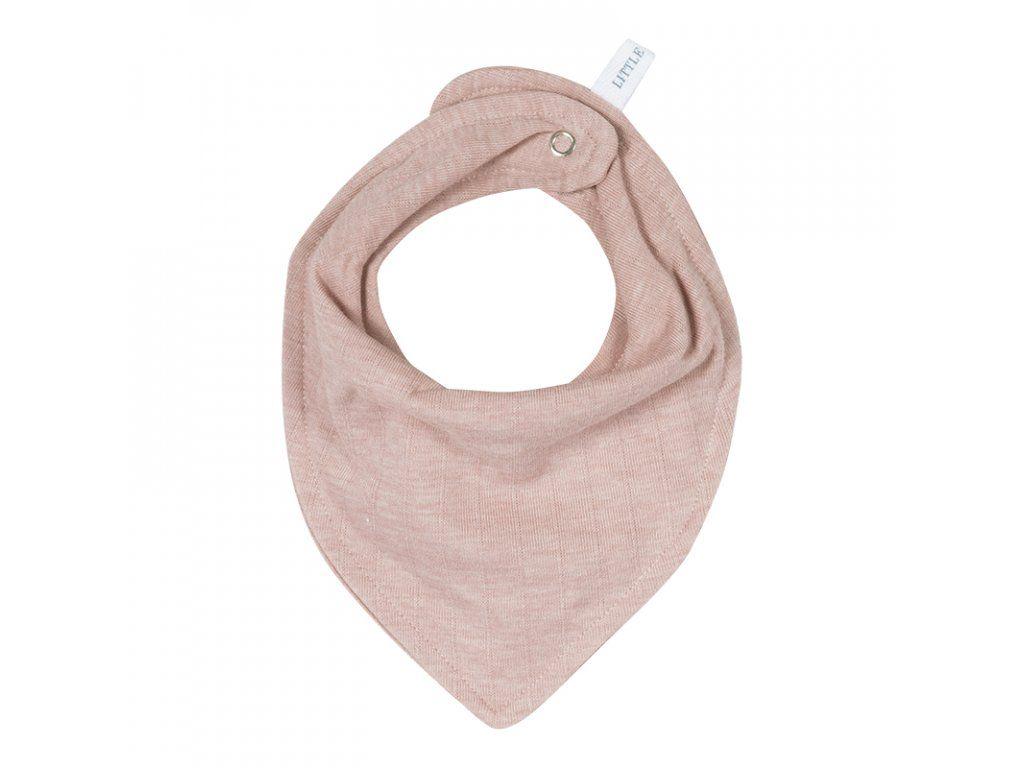 Little Dutch multifunkční šátek/bryndák Pure pink