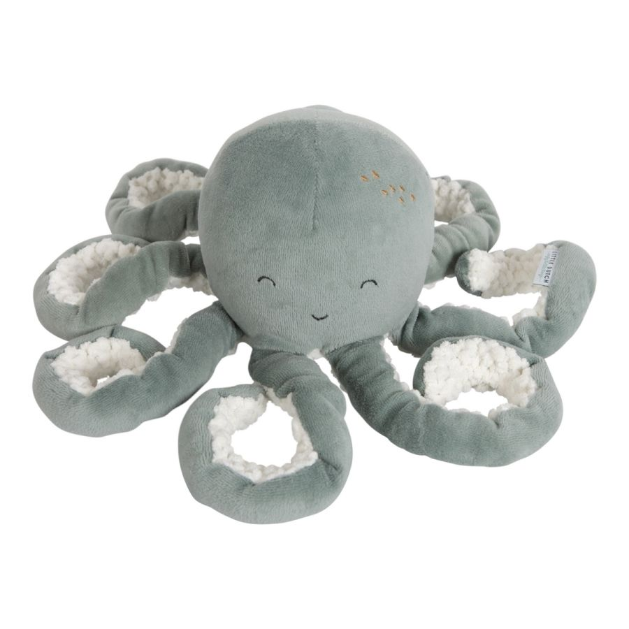 LITTLE DUTCH Ocean Malá plyšová chobotnička Mint