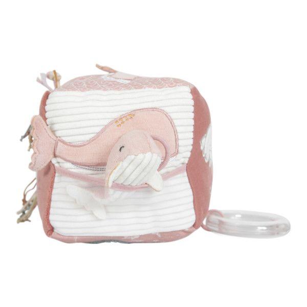 LITTLE DUTCH Ocean Plyšová kostka Pink