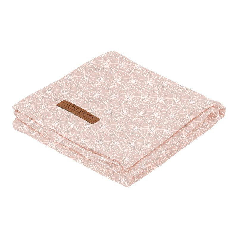 Little Dutch Swaddle 120x120 Leaves Pink