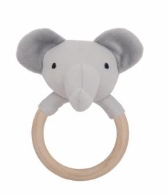 Jabadabado chrastící dřevěný kroužek, Slon