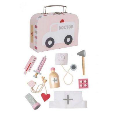 JaBaDaBaDo Dřevěný lékařský kufřík růžový