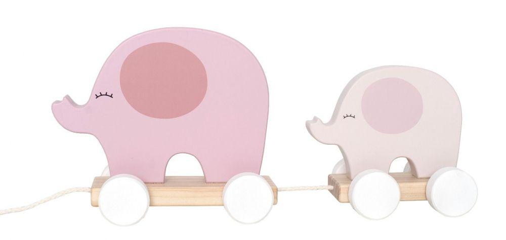 JaBaDaBaDo Hračka na tahání Slon růžový