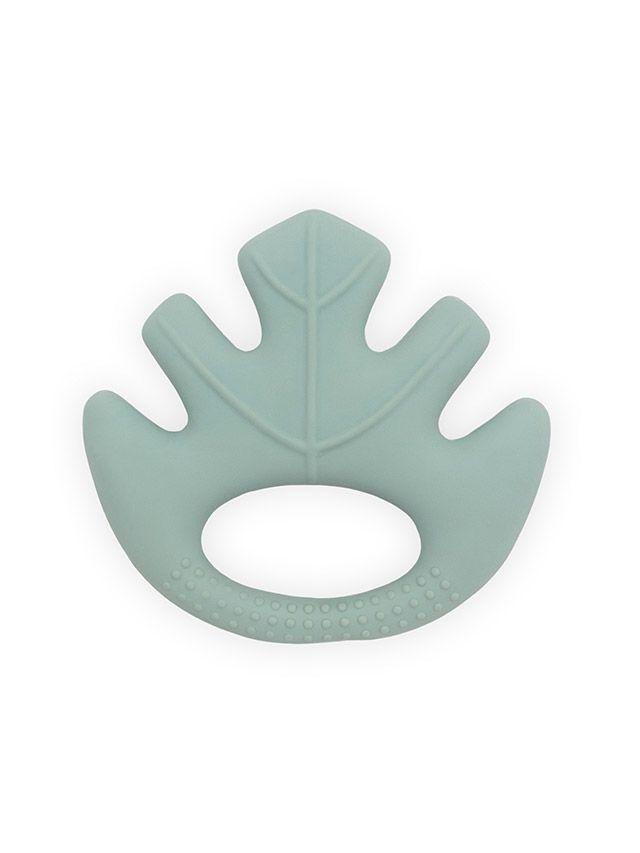Jollein kousátko z přírodní gumy, Listy ash green