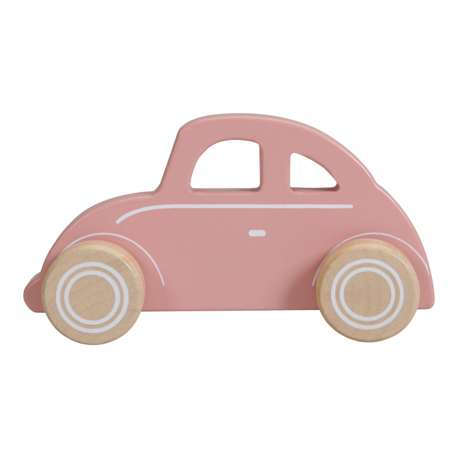 Little Dutch autíčko dřevěné BROUK PINK