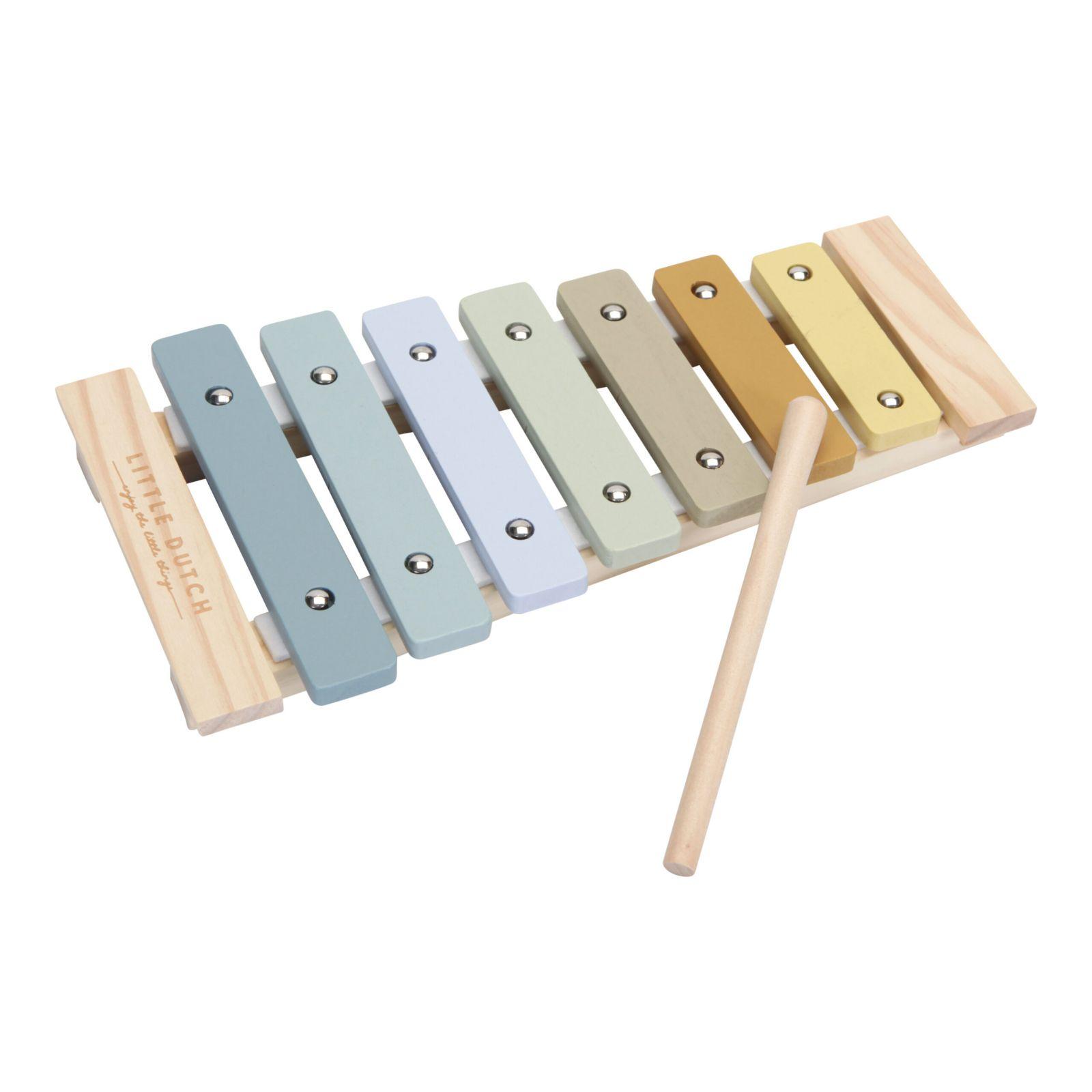 Little Dutch Dřevěný xylofon Blue