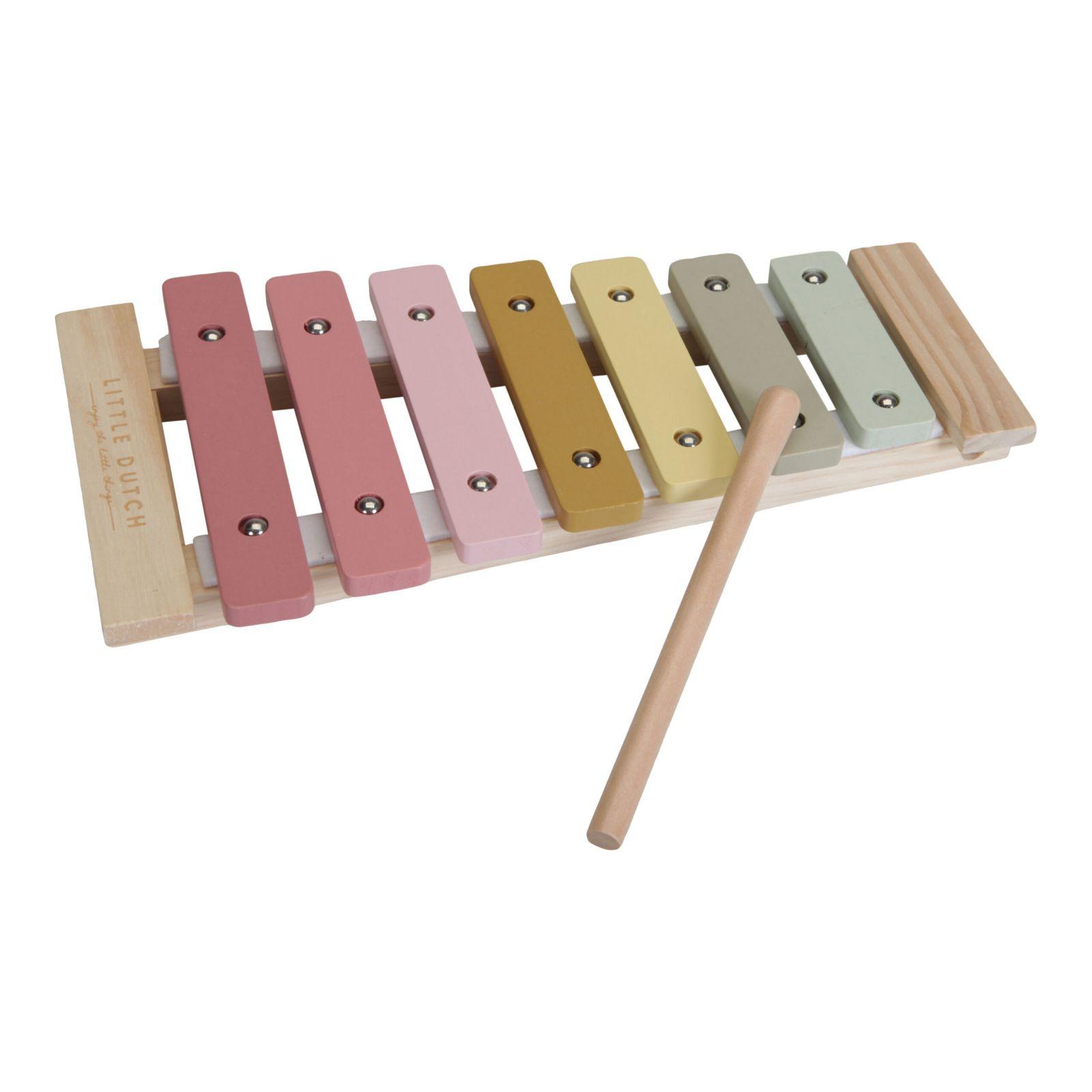 Little Dutch Dřevěný xylofon PINK