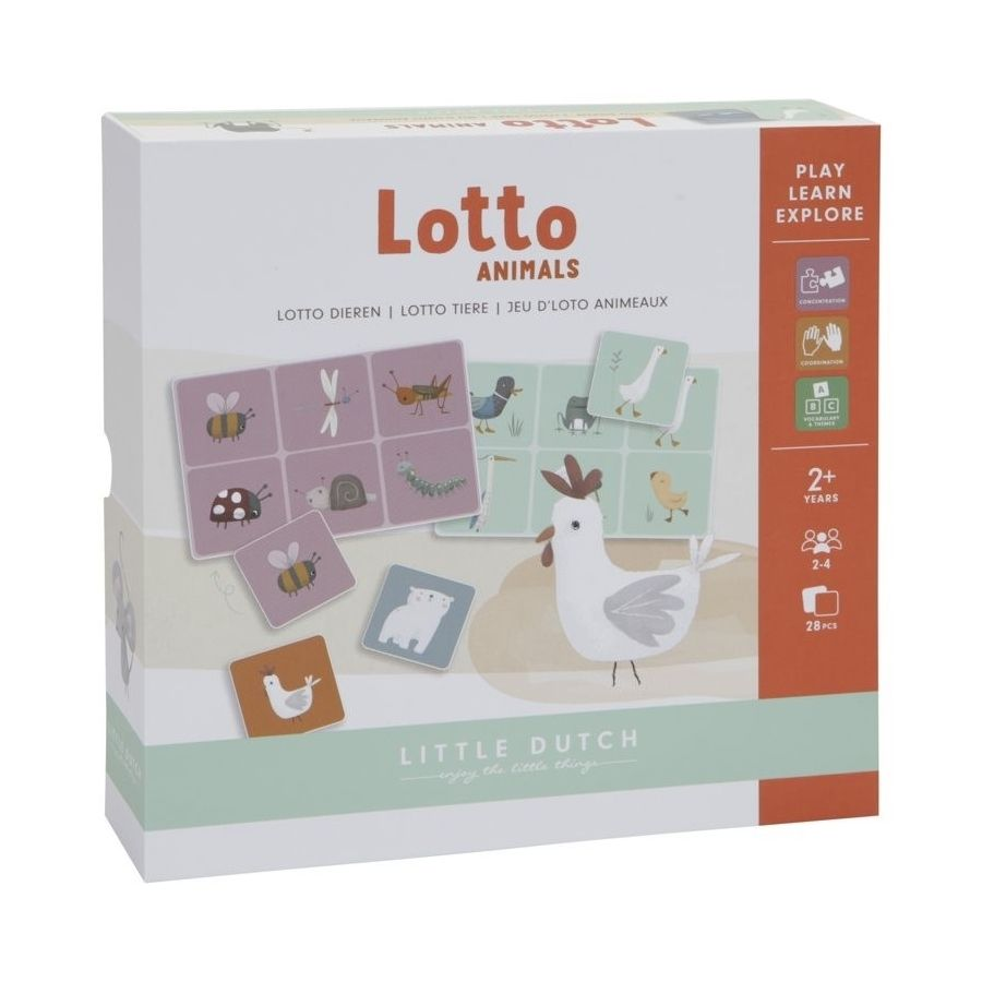 Little Dutch Lotto hra zvířátka
