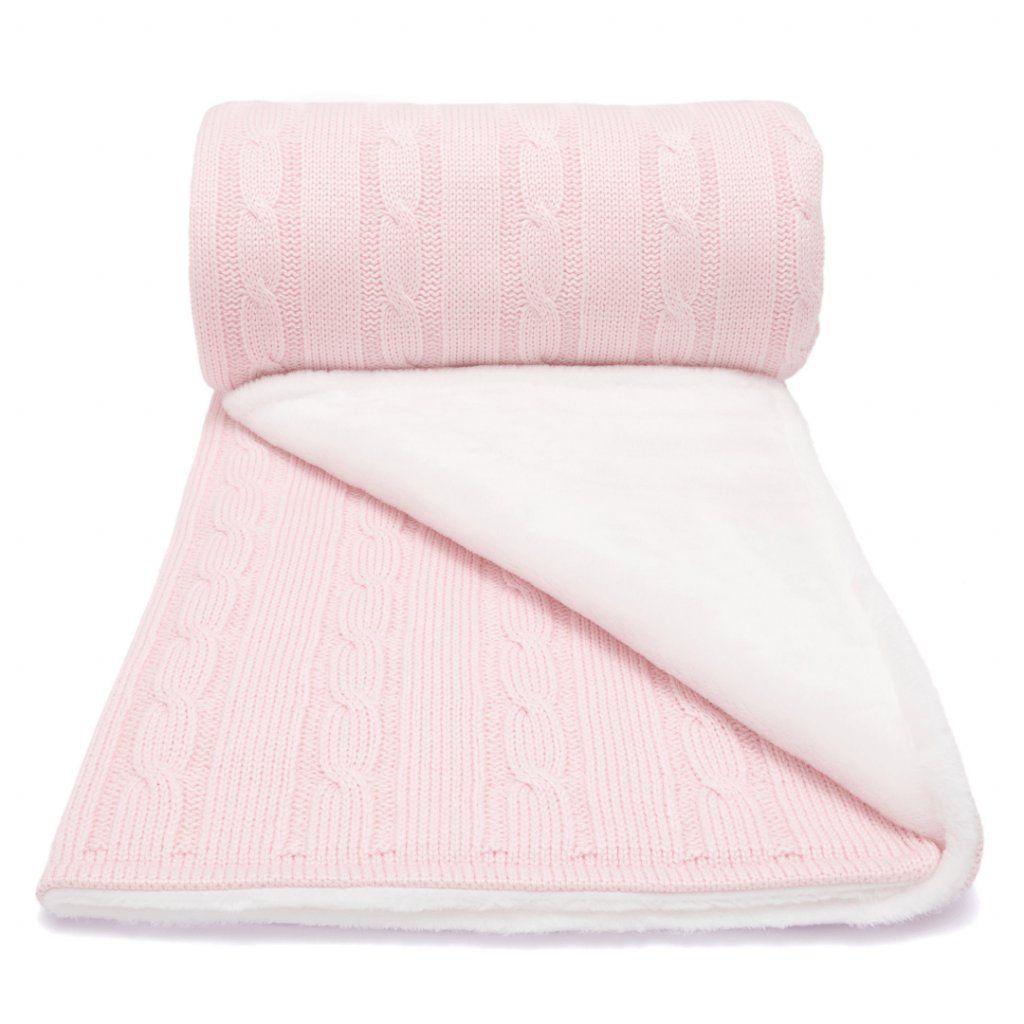 LUMIMA zimní deka copánek, růzová