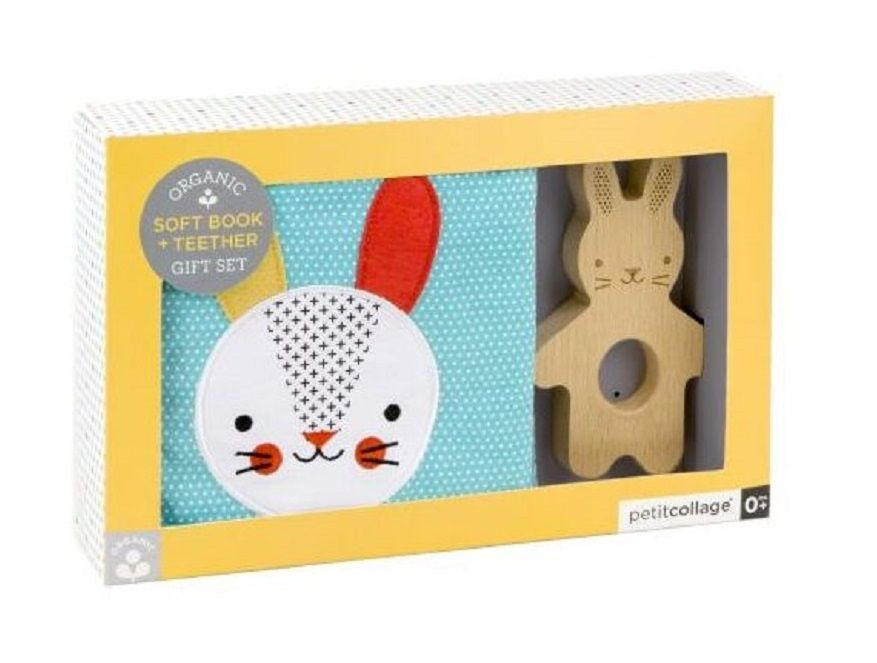Petitcollage Látková kniha s králíčkem