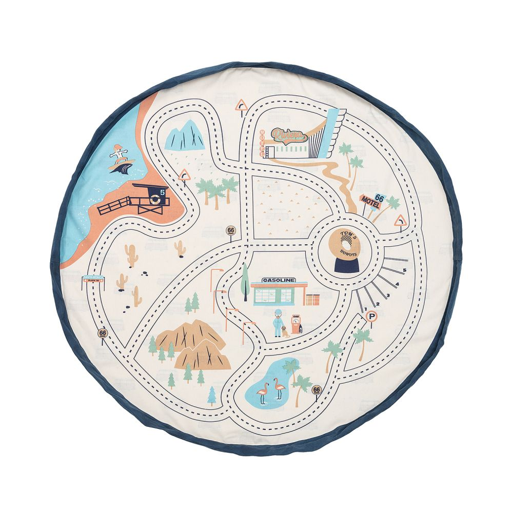 Play & Go vak na hračky LA Roadmap 140cm