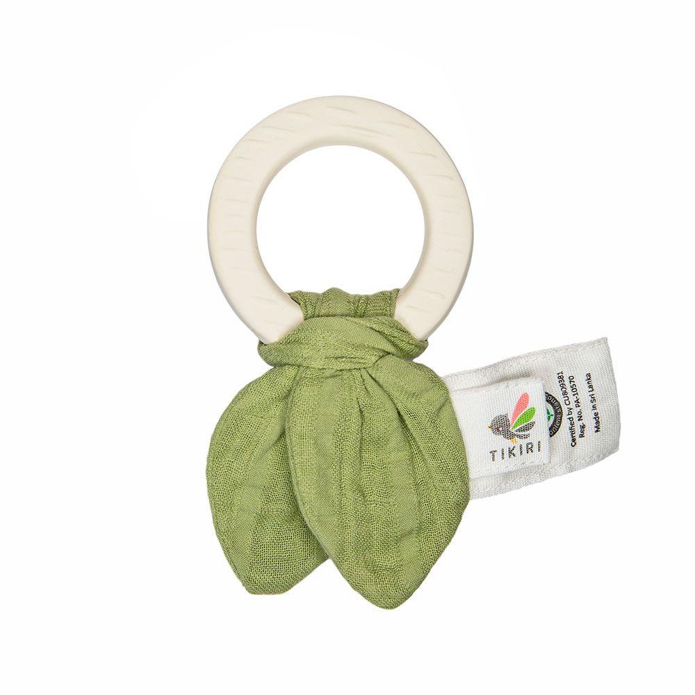 Tikiri kousátko z přírodní gumy a bio bavlny Olive-Green