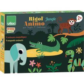 Vilac Dřevěné magnetické puzzle zvířátka Jungle