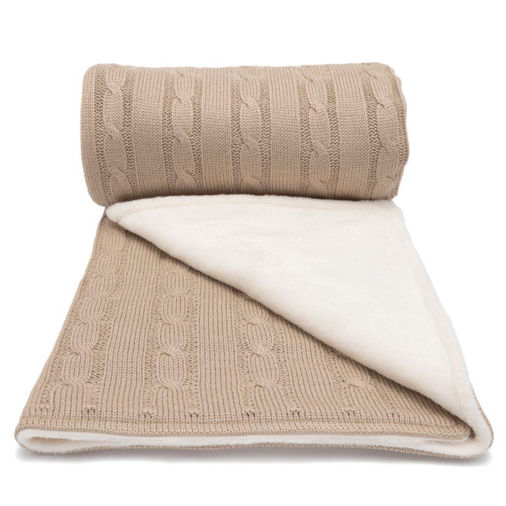 LUMIMA zimní deka copánek, smetanovo-béžová
