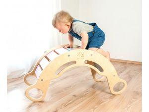 Montessori duhová houpačka 5v1 šedá ELIS DESIGN