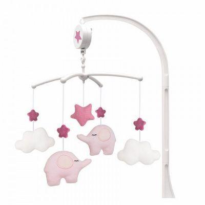 Jabadabado Hudební kolotoč slon růžový