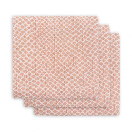 Jollein Plena 70x70cm (3ks) Snake pale pink