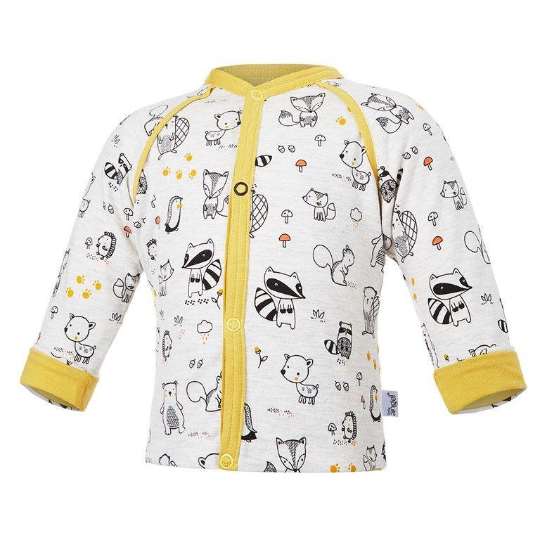 Little Angel Kabátek podšitý ANIMALS Outlast® - natur melír/oliva