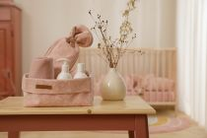 Little Dutch Koš na kosmetiku Wild Flowers Pink