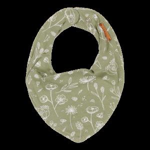 Little Dutch multifunkční šátek/bryndák Wild Flowers Olive