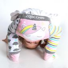 Zoocchini Set legíny a ponožky s protiskluzem Jednorožec 12 - 18 m
