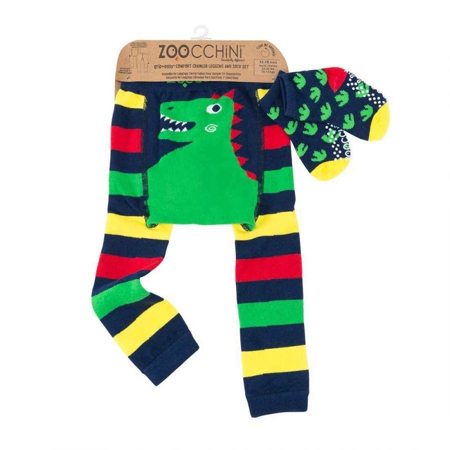 Zoocchini Set legínky a ponožky Dinosaurus