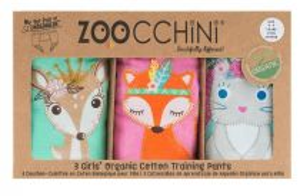 Zoocchini Tréninkové kalhotky Kamarádi z lesa 2 - 3 r, 3kusy