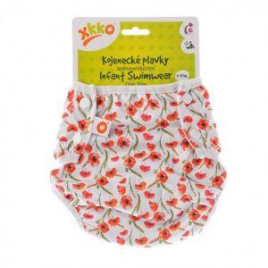 Jednovelikostní kojenecké plavky XKKO - Red Poppies