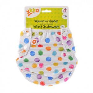 Jednovelikostní kojenecké plavky XKKO - Watercolour Polka Dots