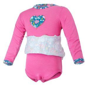 Little Angel Body šaty tenké DR set Outlast® - tm.růžová/tyrkys kvítí