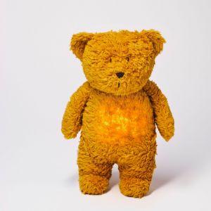 MOONIE šumící usínáček Medvěd Mustard