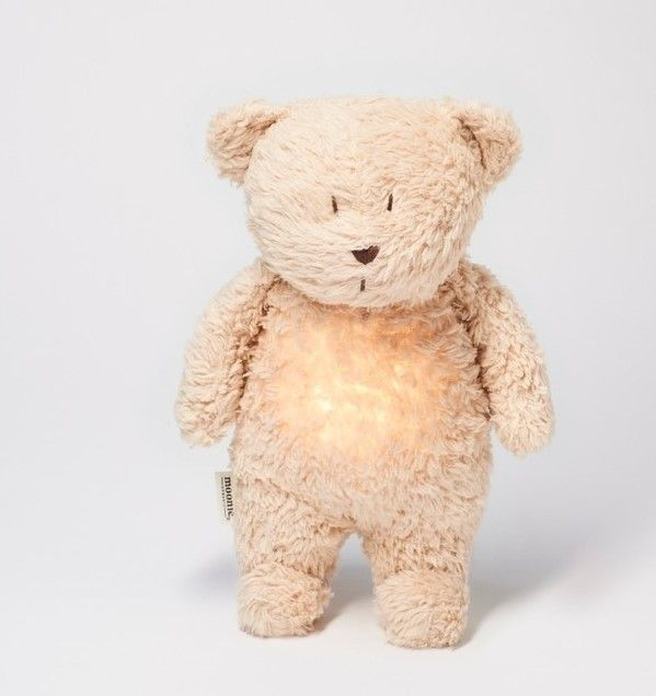 MOONIE šumící usínáček Medvěd SAND