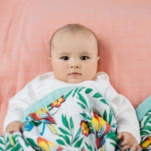 Tommy Lise Biobavlněná mušelínová deka Blooming Day 106x106cm
