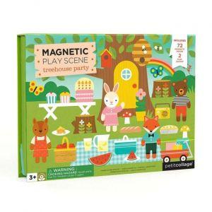 Petit Collage Magnetické divadlo zvířátkový dům