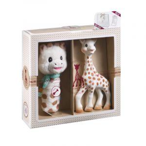 Vulli Dárkový set: žirafa Sophie + plyšové chrastítko