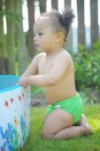 Plenkové plavky BabaBoo, Green Baba+Boo