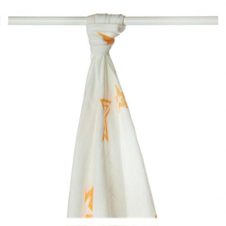 Bambusové pleny KIKKO Orange Star 90x100cm - 1 ks