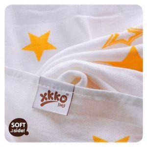 Bambusové pleny XKKO®BMB Orange Star 90x100cm - 1 ks Kikko