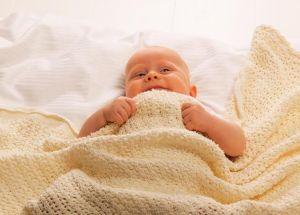Baby Dan háčkovaná deka bavlněná, 75 x 100 cm, bílá BabyDan