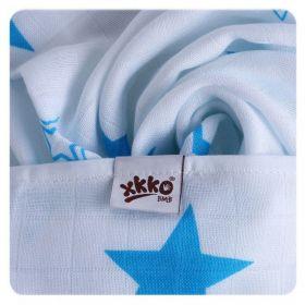 Bambusové pleny KIKKO Cyan Stars MIX 70x70cm - 3ks