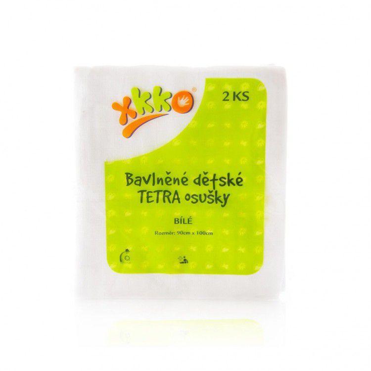 Bavlněné dětské TETRA osušky KIKKO 90x100 cm - bílé